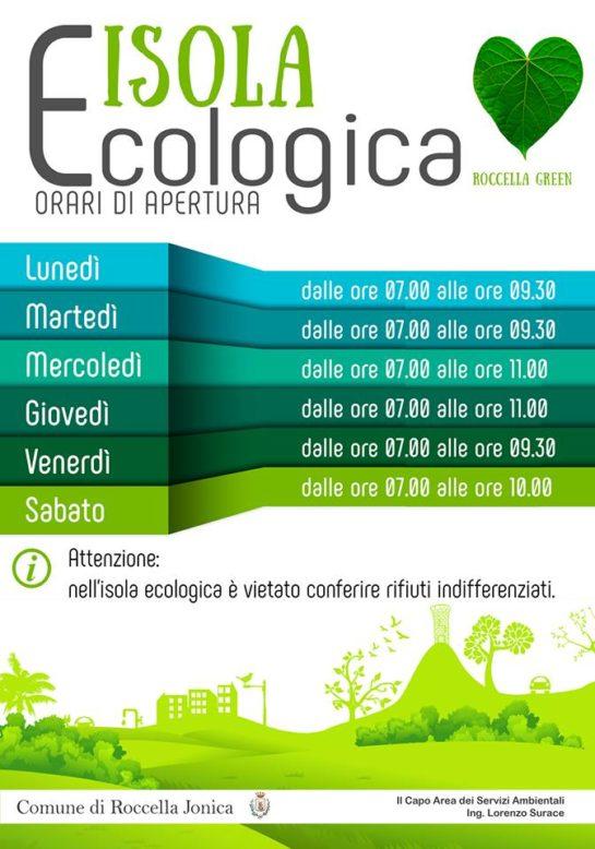 orari isola ecologica