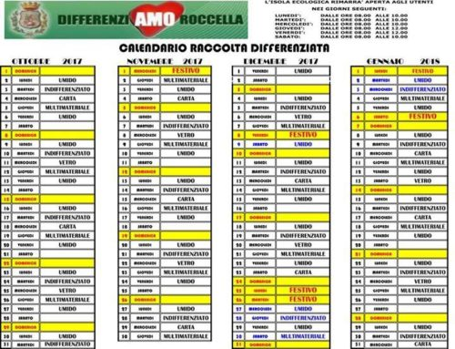 Calendario Differenziata.Raccolta Differenziata Visitroccella